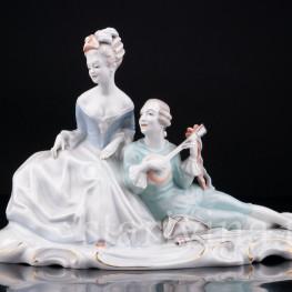 Фигурка из фарфора Пара с мандолиной, Rosenthal, Германия, 1930-50 гг.