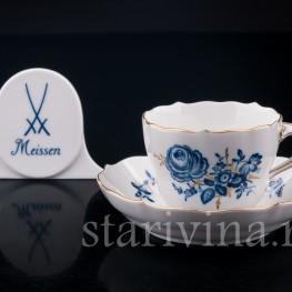 Фарфоровая Кофейная пара, Meissen, Германия, вт. пол. 20 в.