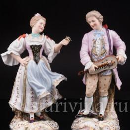 Фарфоровые статуэтки Галантная пара, Samson, Франция, сер. 19 - нач. 20 вв.