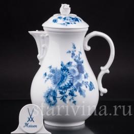 Фарфоровая чайник Хризантемы, Meissen, Германия, сер. 20 в.
