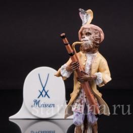 Фигурка из фарфора Обезьяна с фаготом, Meissen, Германия, сер. 19 - нач. 20 вв.